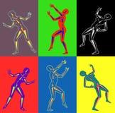 Techno wild dansare Fotografering för Bildbyråer