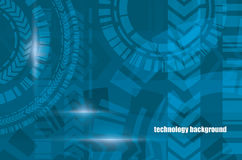 Technocal blue vector background Royalty Free Stock Photography