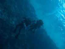technodivers 2 поверхности океана смещения вниз Стоковая Фотография RF