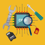 Technolog and devices design Royalty Free Stock Photo