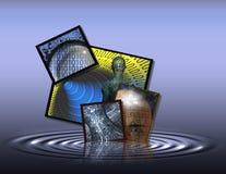 technologia ciekłej Zdjęcia Stock