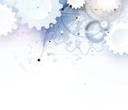 Technologia cyfrowa świat Biznesowi środki i wirtualny pojęcie Wektorowy backg royalty ilustracja