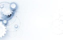 Technologia cyfrowa świat Biznesowi środki i wirtualny pojęcie Wektorowy backg ilustracja wektor