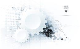 Technologia cyfrowa świat Biznesowy wirtualny pojęcie wektor Obrazy Stock