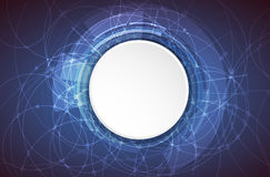 Technologia cyfrowa świat Biznesowy wirtualny pojęcie wektor ilustracji