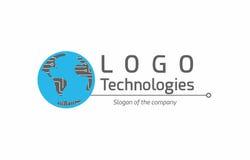 Technologia globalny logo ilustracji