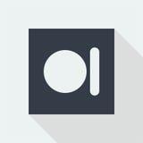 technologia guzika ikony płaski projekt, pracowniana muzyczna projekt ikona Zdjęcie Royalty Free
