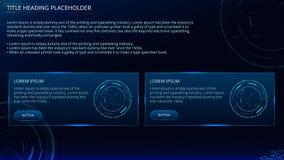Technologia interfejs, Futurystyczny tło, rzeczywistości wirtualnej cyberprzestrzeń, Cyfrowego uczenie pojęcie royalty ilustracja