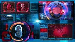 Technologia interfejsu komputeru dane Digital ekran ilustracji