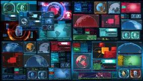 Technologia interfejsu komputeru dane Digital ekran royalty ilustracja