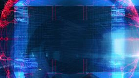 Technologia interfejsu komputeru dane Digital ekran ilustracja wektor