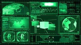 Technologia interfejsu komputeru dane ekranu GUI royalty ilustracja