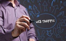 Technologia, internet, biznes i marketing, interes faceta Obrazy Stock