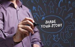 Technologia, internet, biznes i marketing, interes faceta Obraz Royalty Free