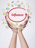 Technologia, internet, biznes i marketing, Młody biznesowy wom Fotografia Stock