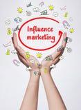 Technologia, internet, biznes i marketing, Młody biznesowy wom Obraz Stock