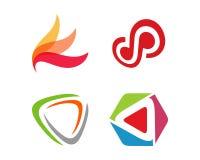 Technologia loga szablonu ilustracja Zdjęcia Royalty Free