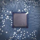 Technologia mikroukład elektroniczny Zdjęcia Royalty Free