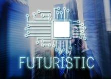 Technologia obwodu procesoru innowaci sieci pojęcie zdjęcie stock