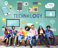 Technologia Ogólnospołecznego Medialnego networking Cyfrowego Online pojęcie obrazy royalty free