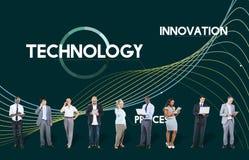Technologia proces Wprowadza innowacje sieć dane pojęcie Zdjęcie Stock