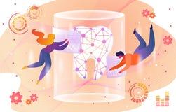 Technologia przyszłość w Stomatology opiece zdrowotnej royalty ilustracja