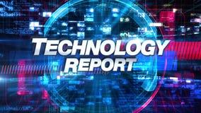 Technologia raport - Wyemitowany wiadomości grafika tytuł ilustracja wektor