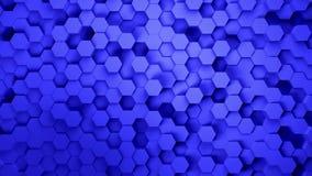 Technologia sze?ciok?ta abstrakcjonistycznego modela kolorowy t?o, Wiele czy?ci techniczni geometryczni sze?ciok?ty jako fala, ok zdjęcie wideo