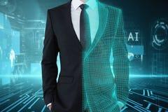 Technologia, sztuczna inteligencja i analityki pojęcie, fotografia stock
