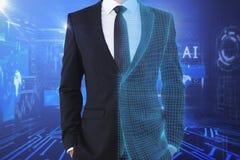 Technologia, sztuczna inteligencja i finanse pojęcie, zdjęcia stock