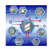 Technologia w moblie Obraz Stock
