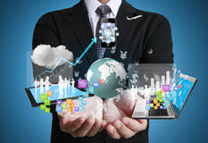 Technologia w rękach obrazy stock