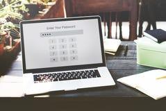 Technologia Wchodzić do hasło ochrony grafiki pojęcie Obraz Stock