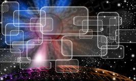 technologic abstrakcjonistyczny niebo Ilustracji