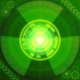 Technologic background of green shades. Abstract background of futuristic technology in green shades. Digital technology and engineering concept design Stock Photography