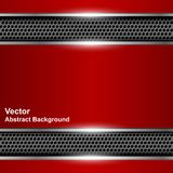 Technological abstract background metallic red banner. Stock Photos
