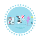 Technological Advance in Medicine Icon Flat Royalty Free Stock Photo