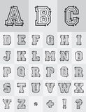 Technological Alphabet Royalty Free Stock Photo