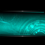 Technological background with metallic banner. Vec Royalty Free Stock Images