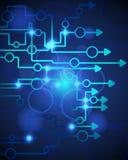 Technological blue background Stock Image