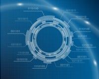 Technological blue background Stock Photo