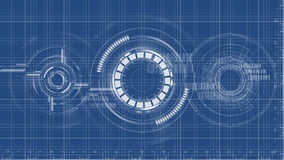 Technological blueprint technical drawing background vector Stock Photos