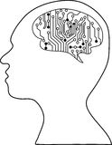 Technological brains Royalty Free Stock Photography