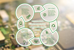 Technological business infographic four Positions Royalty Free Stock Photography