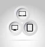 Technological buttons Stock Images