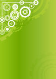 Technological clockwork green vertical background Stock Images