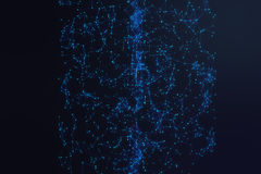 Technological connection futuristic shape, blue dot network, abstract background, blue background, Concept of Network. Internet communication, 3D rendering Royalty Free Stock Photography