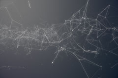 Technological Connection Futuristic Shape. Gray Dot Network. Abstract background, Gray Background. Concept of Network Stock Photography
