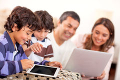 Technological family Stock Photography