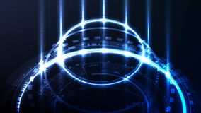 Technological future cyber interface hud abstract background tem. Plate vector design royalty free illustration